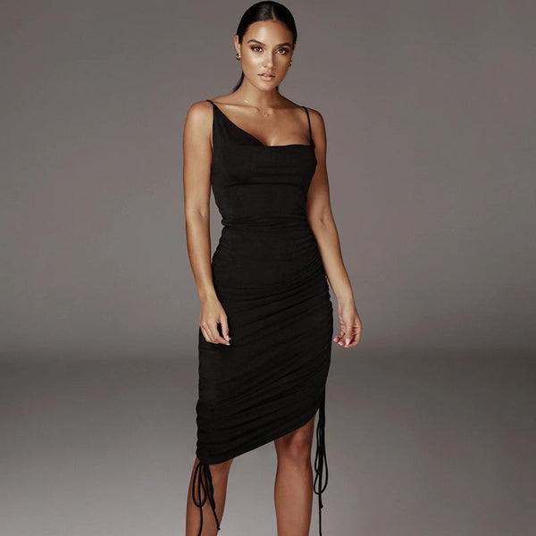 Adjustable length drawstring Dress