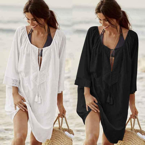 Chiffon Lace sunscreen beach Dress
