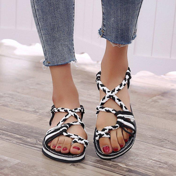 Braided rope beach sandals
