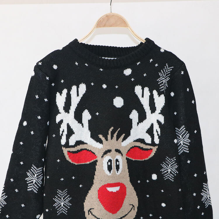 Christmas Cartoon Reindeer Knit Sweater