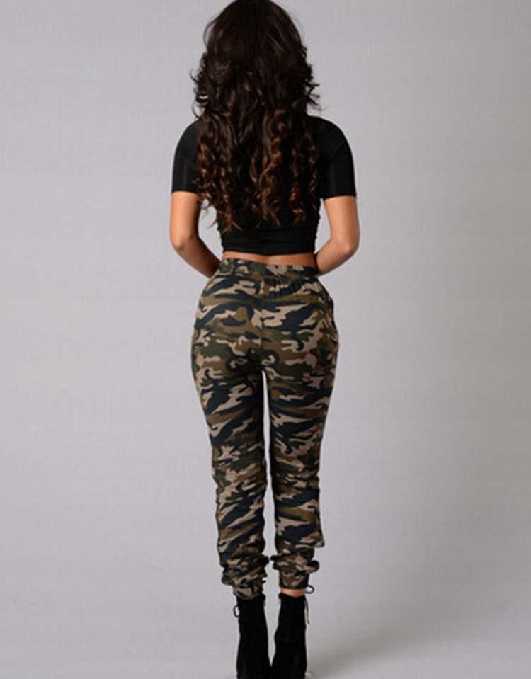 Camouflage 9/10 Elastic Bottoms Draw String Loose Pants