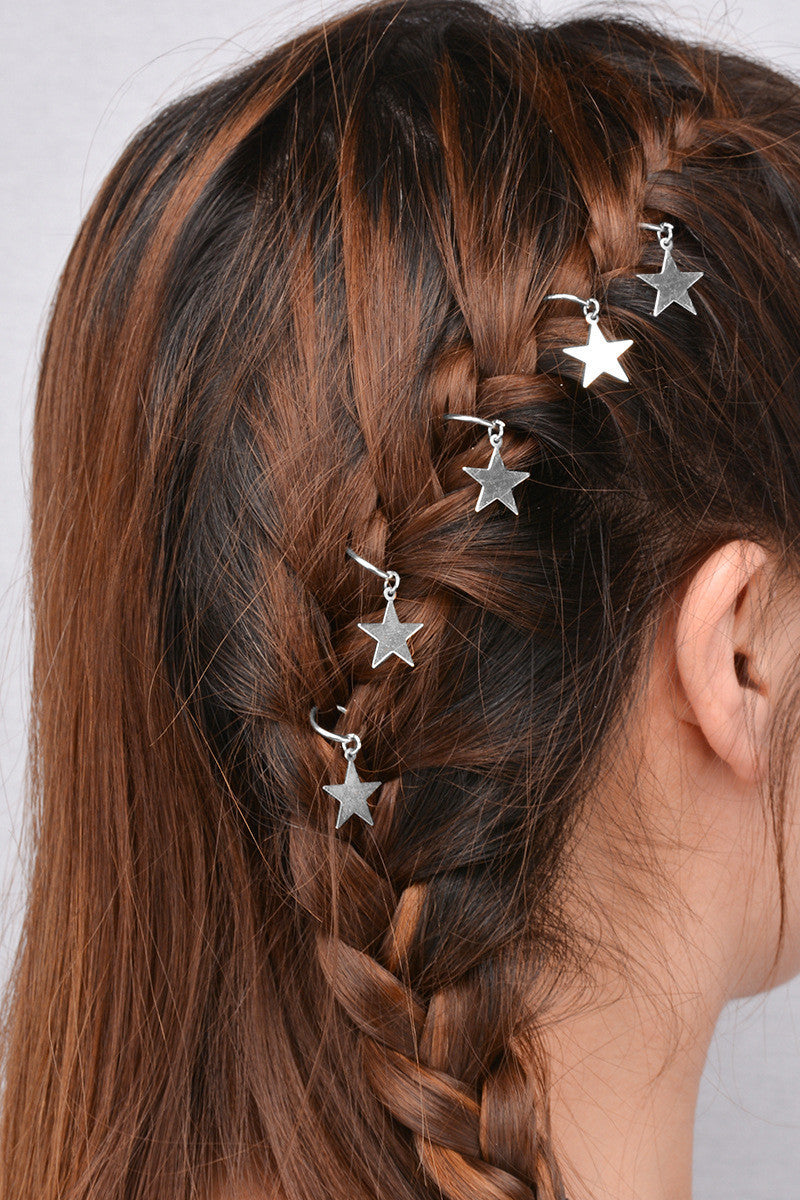 Unique African Stars Plait Leaves 5 Hairpin