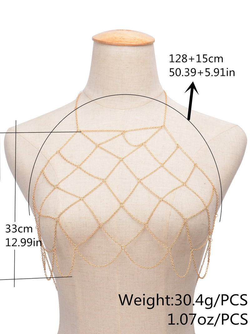 Fashion Sexy Handmade Geometry Mesh BodyChain
