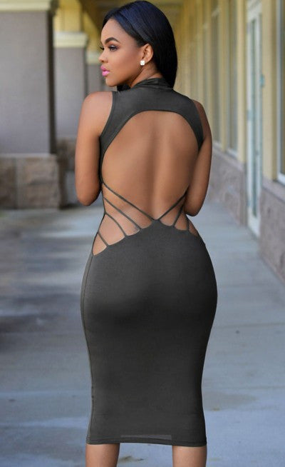 Sexy Backless Elastic Bandage Party Dress