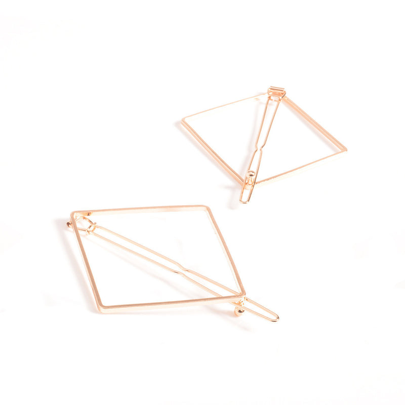 Fashion Street Dnap Geometric Square Joker Hair Clips