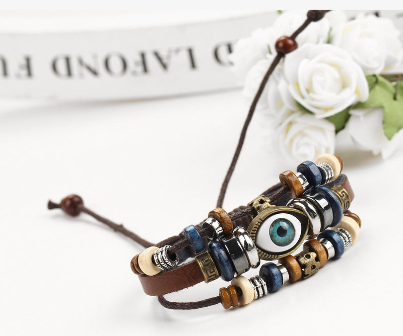 National Eyes Multilayer Beaded Bracelet