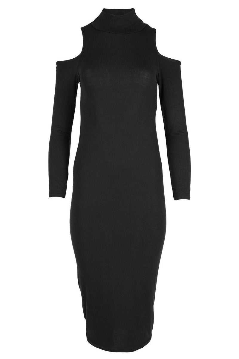 Dew Shoulder Long Sleeves Elastic Nightclub Slim Dress