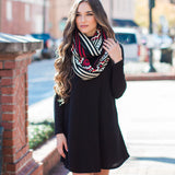 Fashion Loose Style Ribbed-Knit Short Sweater Dress