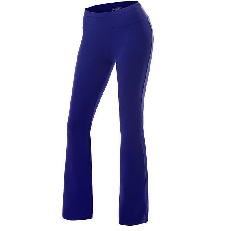 Casual Pure Color Wide Leg Sports Yoga Pants
