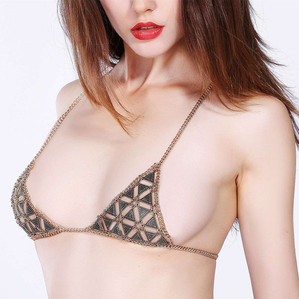 Personality Fashion Geometry Bra BodyChain