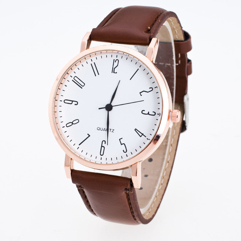 Classic Fashion Leather Quartz Watch