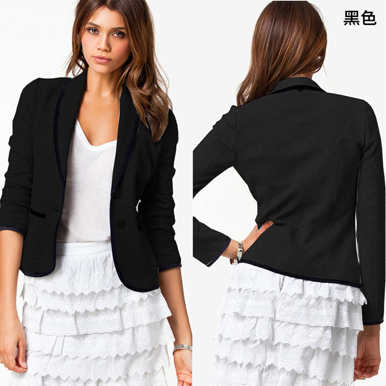 Casual Turn-down Collar Slim Short Fashion Blazer