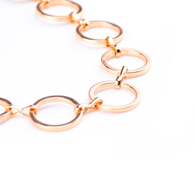 Beautiful Geometric Copper Ring Necklace