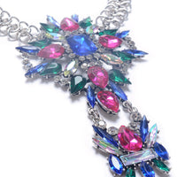 Dazzle Colour Alloy Jewel-Embeded Anklet