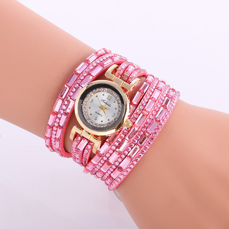 Korean Style Crystal Lady's Watch