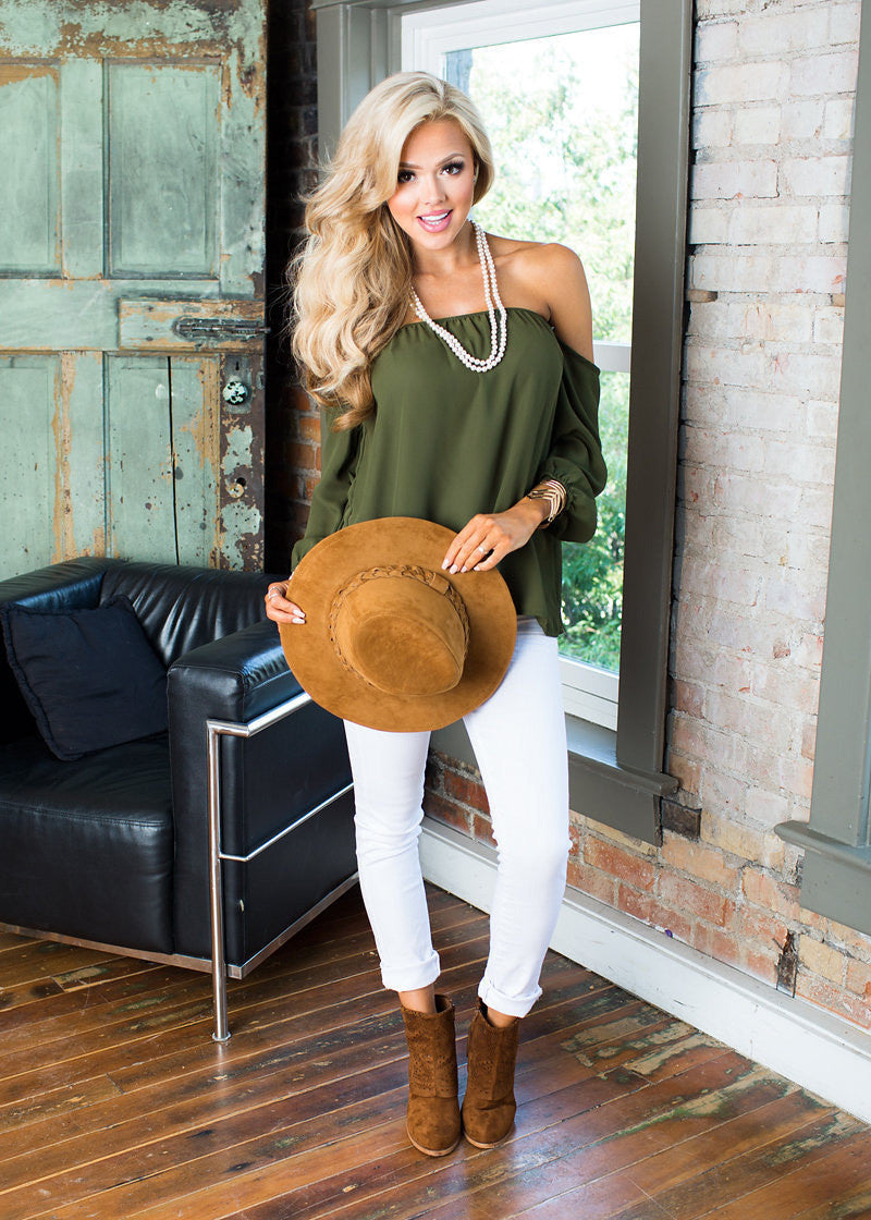 Sexy Off Shoulder Long Sleeve Chiffon Elastic Loose Blouse