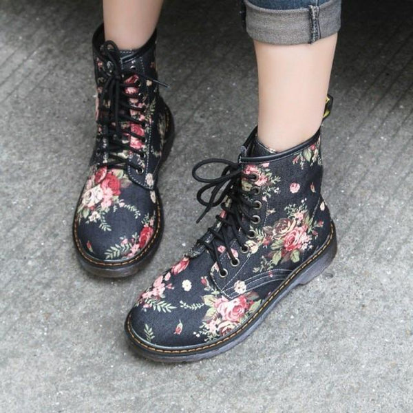 Printed Cowboy Short Canister Martin Boots