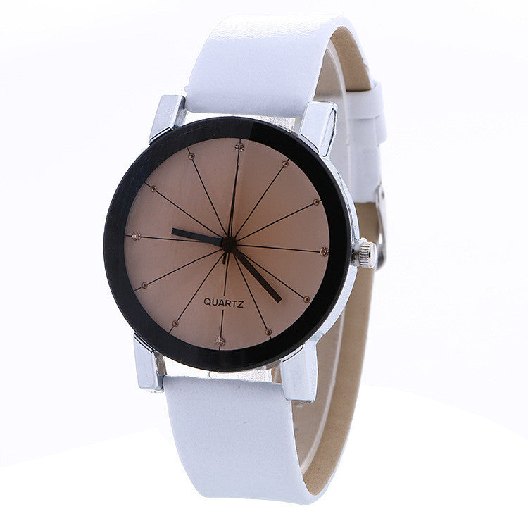 Simple Fashion Crystal Leather Watch