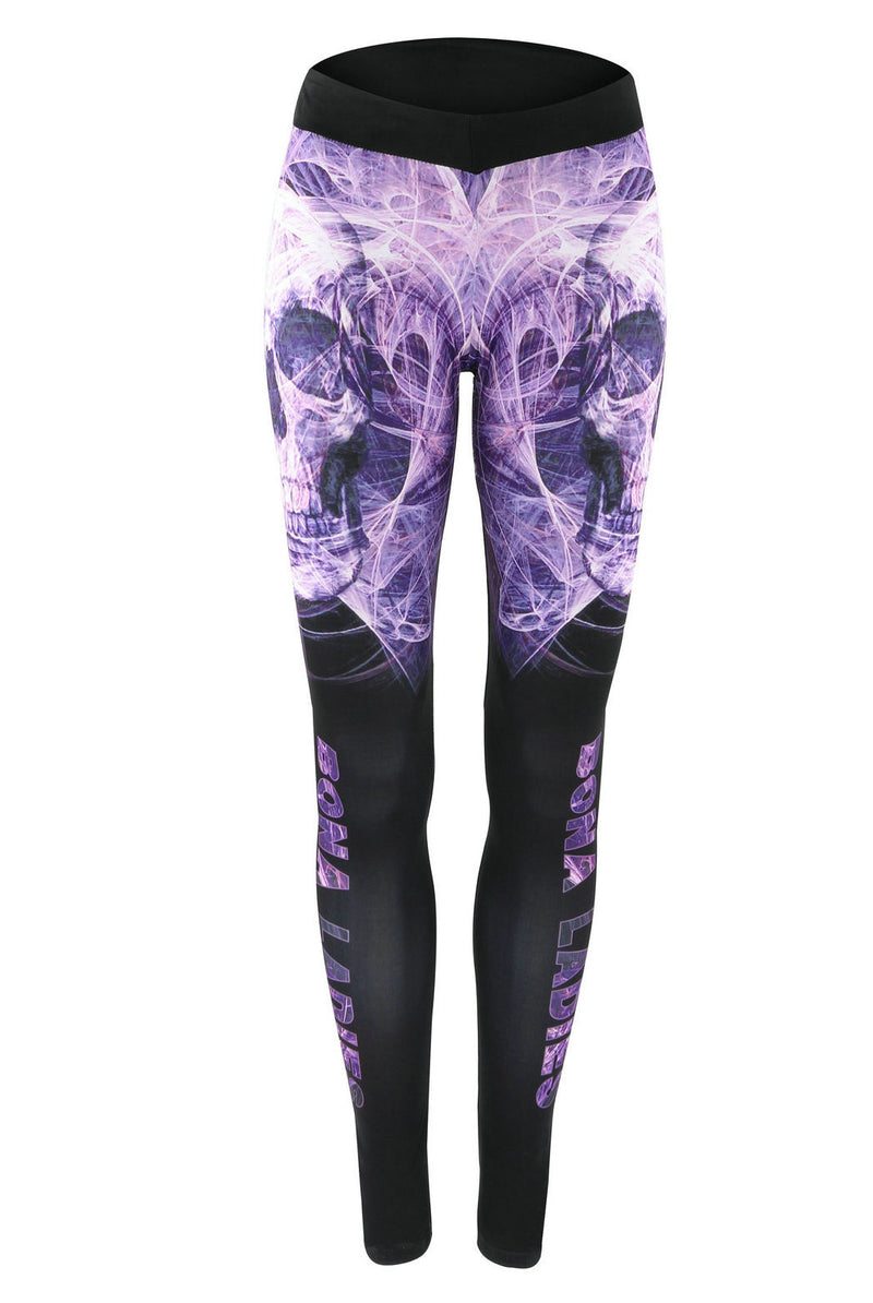 Women's Sexy Print Elastic Low Waist Long Slim Leggings