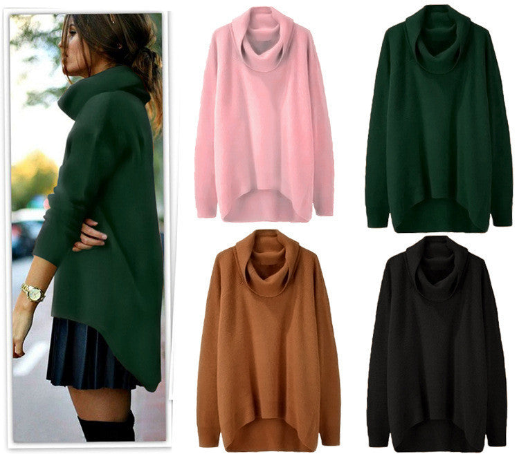 Fashion Irregular Turtleneck Sweater