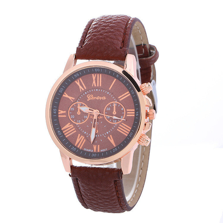 Classic Three Leather Watch