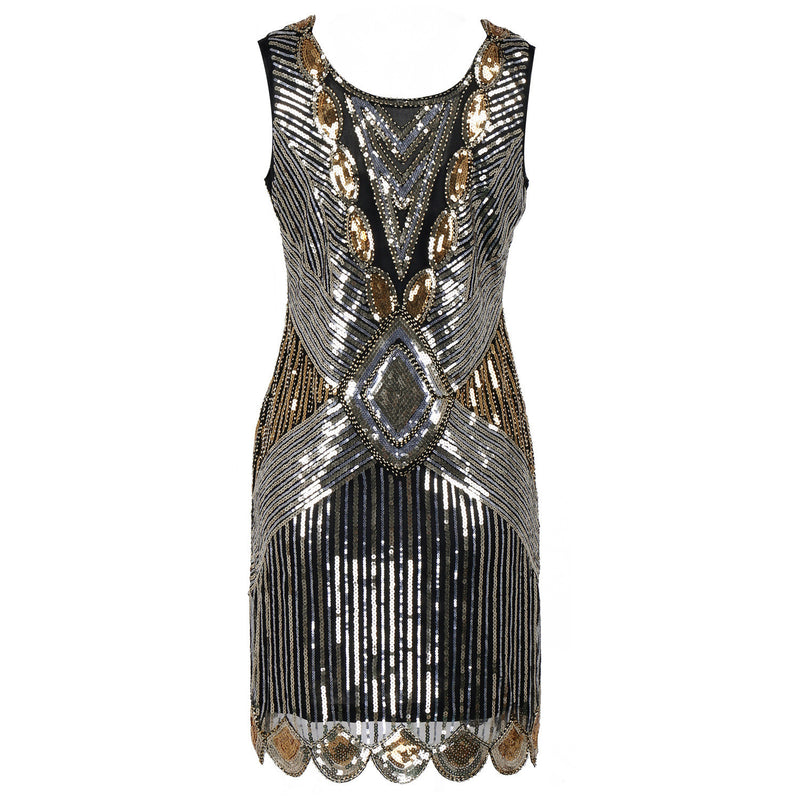 Sequined Chrismas Party Dance Dress