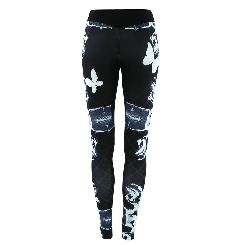 Fashion Low Waist Print Long Leggings