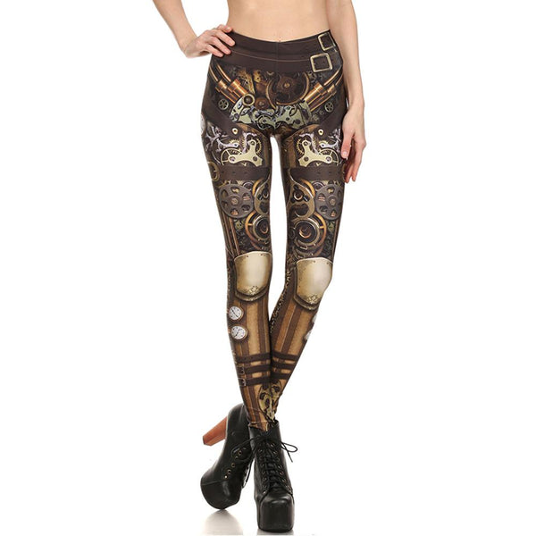 Digital Print Unique Women Mid Waist Skinny Leggings