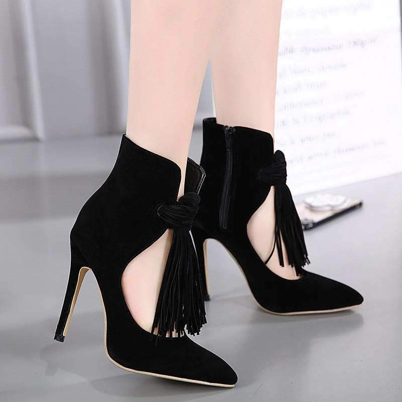 Beautiful Tassls Stiletto Heel Heels Shoes