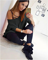 Sexy Loose Knit Off Shoulder Short Sweater Dress