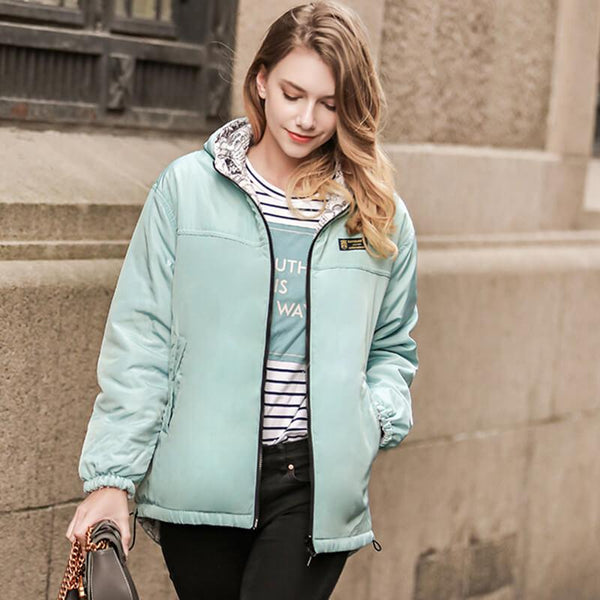 Solid Hooded Padded Jacket