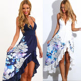 Sexy Loose  Irregular printed Beach Dress