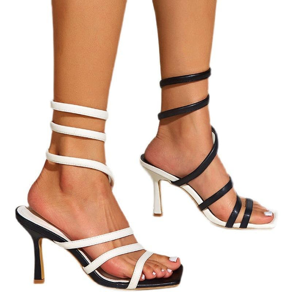 Twining Thin Head Color Matching Sandals