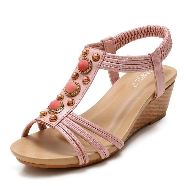 Seaside Roman wedge heel sandals