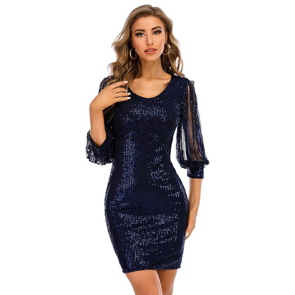 Tassel sleeve Sequin Dress
