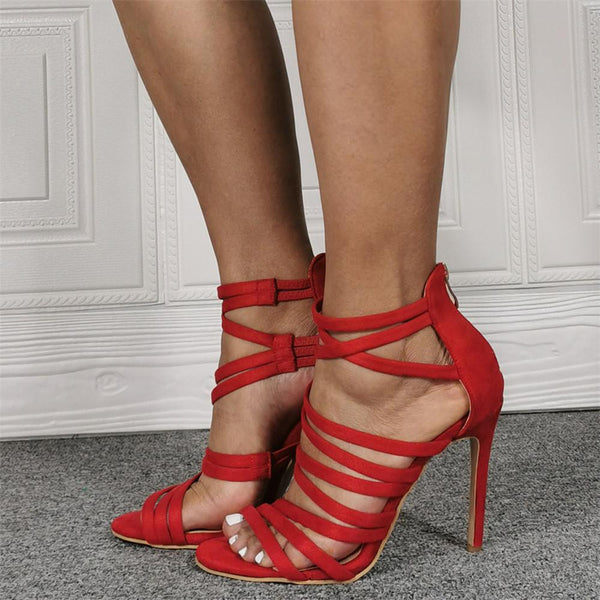 Strapped high heel party sandals