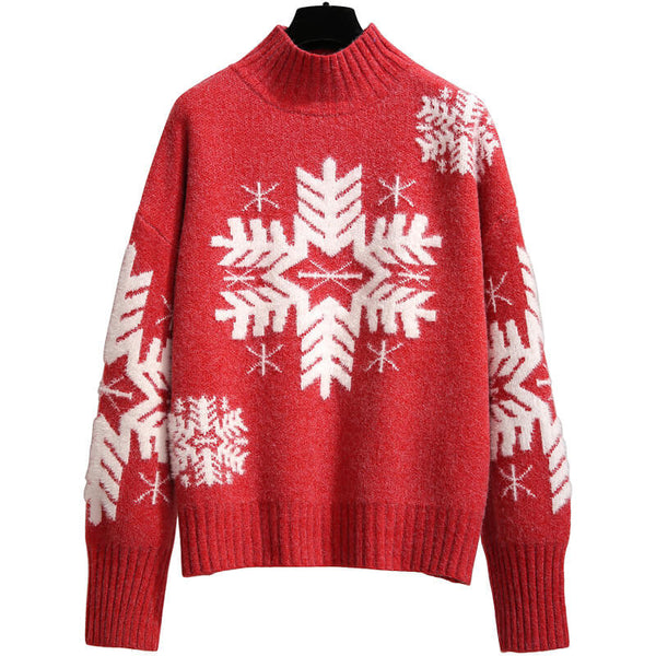 Ugly Christmas Turtleneck Chunky Sweater