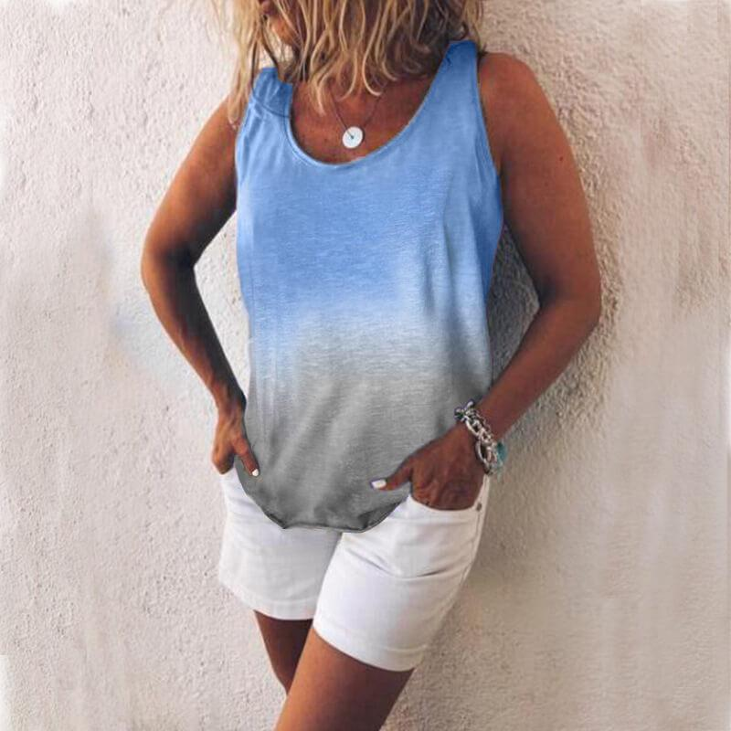 V-neck Patchwork T-shirt