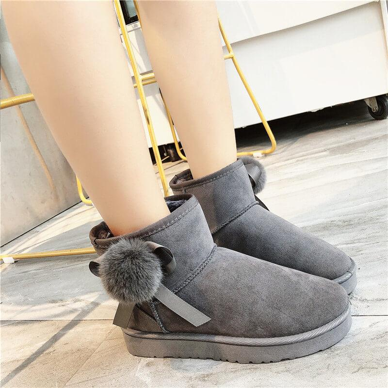 Flat Suede Round Toe Like Uggs Ankle Boots
