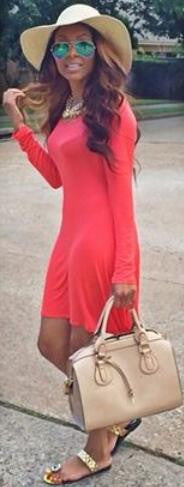 Red Scoop High Waist Long Sleeve Irregular Short Dress