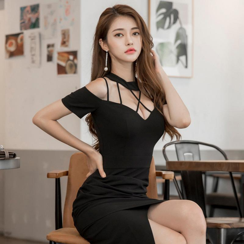 Strapless Slim  Irregular Party Dress