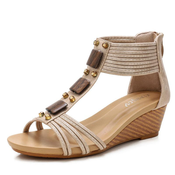 Seaside back zipper ROMAN SANDALS