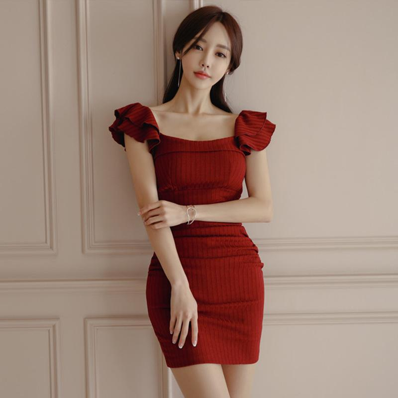 Slim Waist Buttock Pencil Skirt Dress
