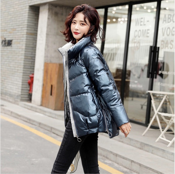 Padded PU Shearling Jacket