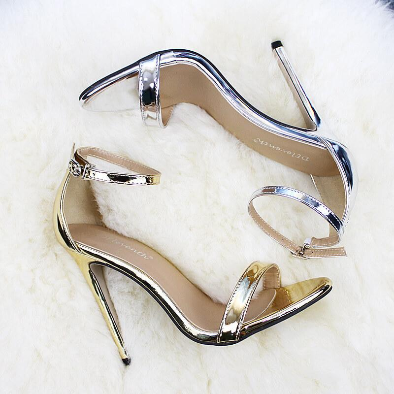 Open Toe Ankle Wrap Simple Stiletto High Heel Sandals