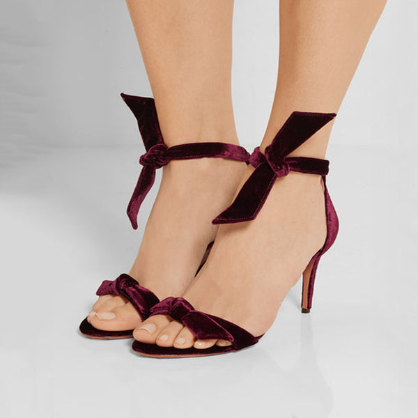 Simple Strap Plain Open Toe High Heel Sandals
