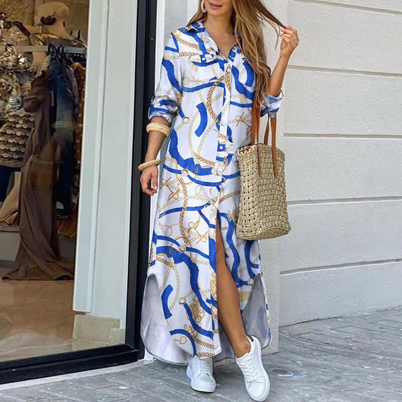 Slits Maxi Shirt Dress