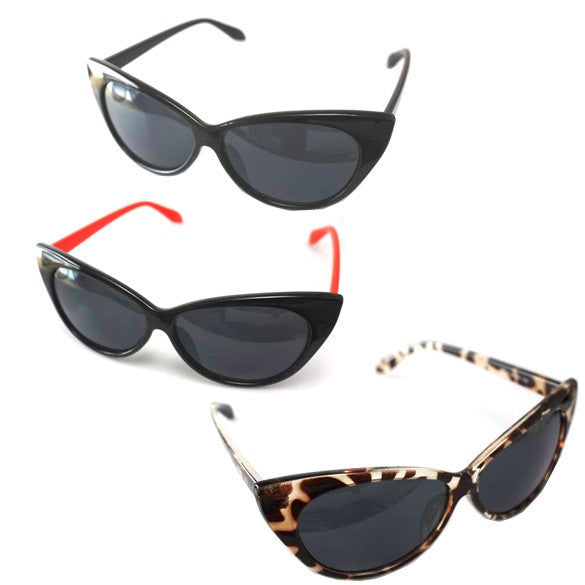 New Cat Eye Retro Fashion Sunglasses Three Colors