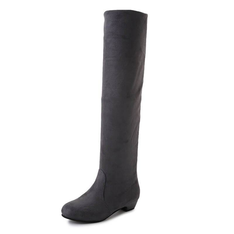 Fashion Elastic Knee-High Flat Boots