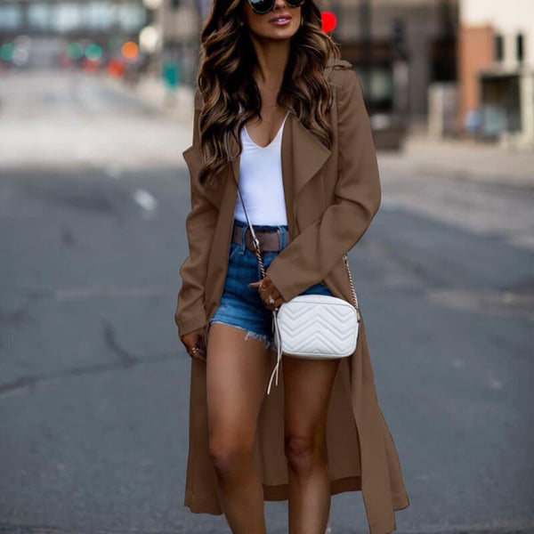 Open Front Trench Over Coat